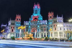 Die Plaza Cibeles in Madrid zur Weihnachtszeit. Foto: José Ignacio Soto